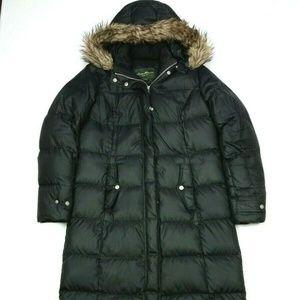 Eddie Bauer 550 Down Maxi Black Puffer Parka Coat